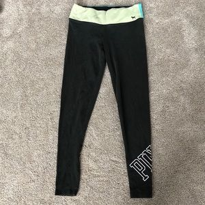 Pink leggings size black green and blue size XS